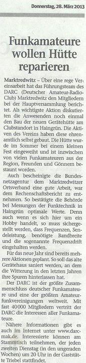 Frankenpost 28.03.2013