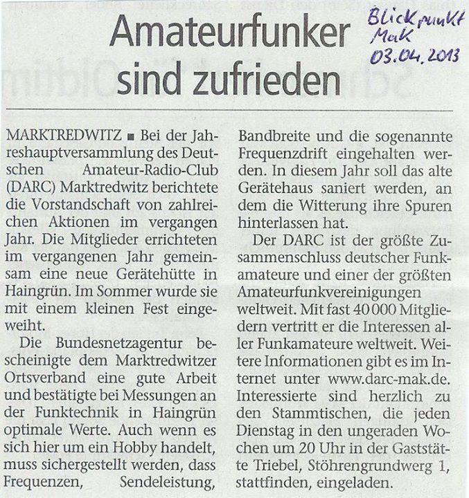 Blickpunk Marktredwitz 03.04.2013